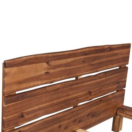 Кровать Рама Твердая Акация Дерево 180x200 см