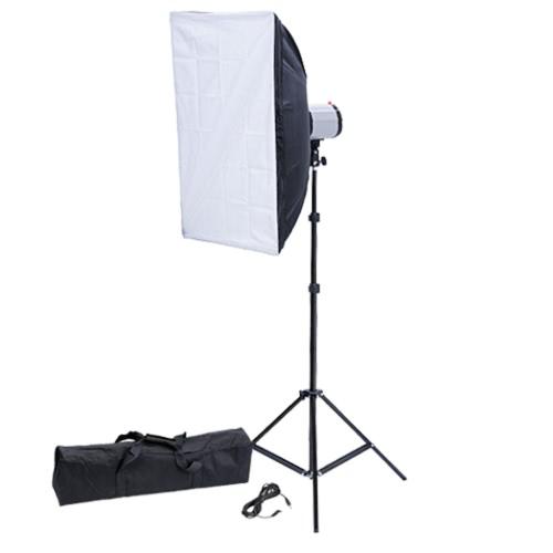 Studio 120W/s Flash Head 50 x 70 cm Softbox Tripod UK