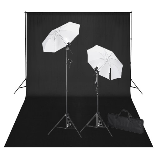 Studio Kit with 600x300 Black Backdrop Lights UK