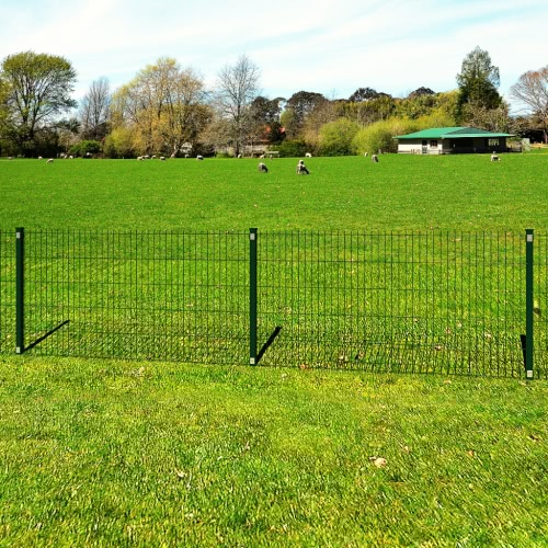 Garden Border 2D Fence Panel with Post 6/5/6mm Wire 83cm 10m