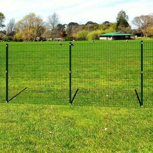 Garden Border 2D Fence Panel with Post 6/5/6mm Wire 163cm 10m