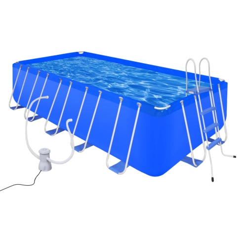 Swimming Pool with Ladder & Pump Steel 540 x 270 x 122 cm