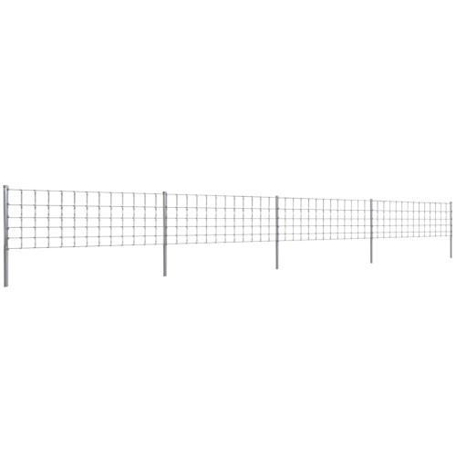 Step-In Fence 50 m with Post Galvanized Wire Fence 80/6/30