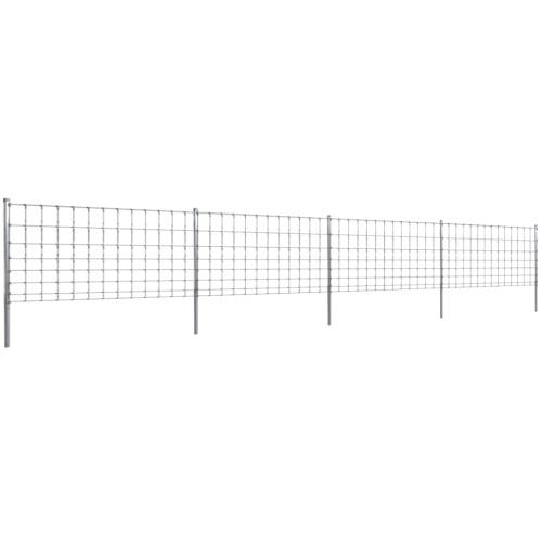 Step-In Fence 50 m mit Pfosten aus verzinktem Draht-Zaun 100/8/30