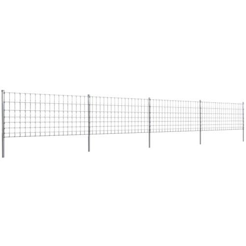 Step-In Fence 50 m mit Pfosten aus verzinktem Draht-Zaun 100/8/15