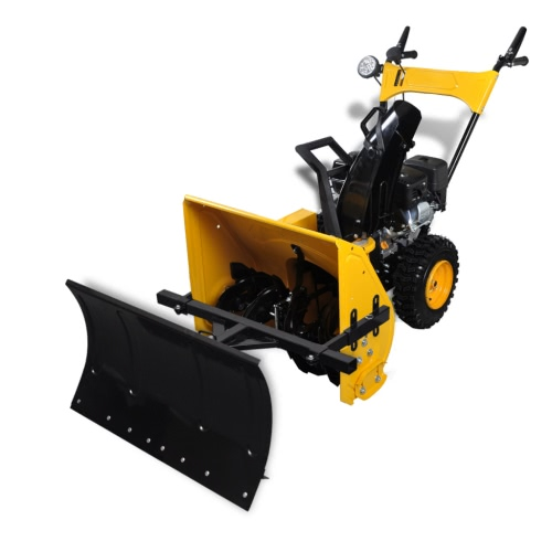 6.5 HP Petrol-Powered Snow Thrower Set with Snow Plough Blade