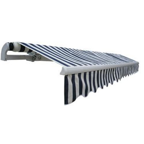 Folding Awning 600 x 300 cm Navy Blue & White