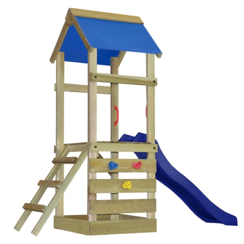 Wooden Playset with Ladder and Slide