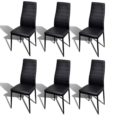 6 pcs Noir Slim Line Chaise
