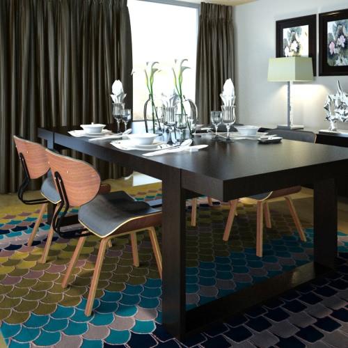 Conjunto de 4 de madera curvada y cuero artificial de restauración sillas con respaldo