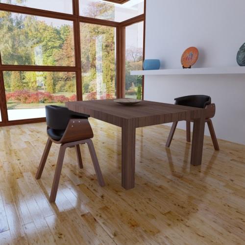 Conjunto de 2 cuero artificial cena la silla con respaldo