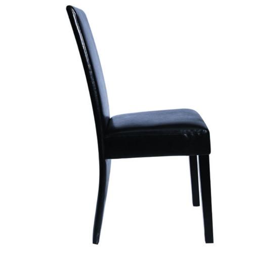 6 pc artificiale legno nero Dining Chair