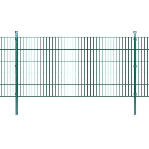 2d garden fence panels & posts 2008x1030 mm 22 m green