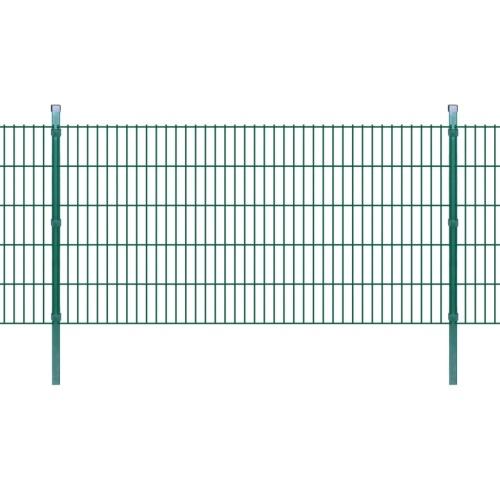 2d garden fence panels & posts 2008x1030 mm 36 m green