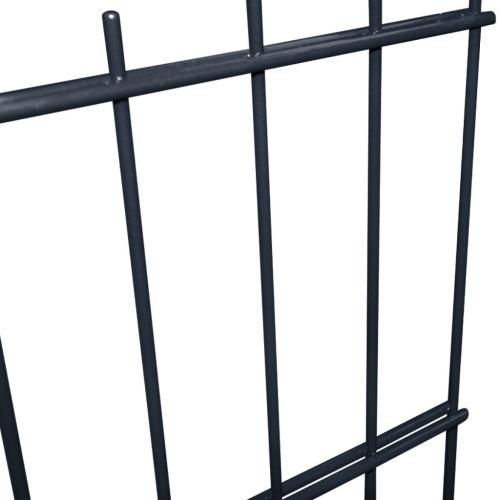2d garden fence panels & posts 2008x1030 mm 30 m grey