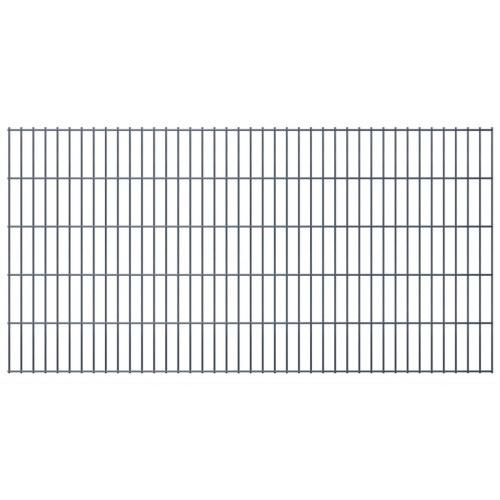 2d garden fence panels & posts 2008x1030 mm 36 m grey