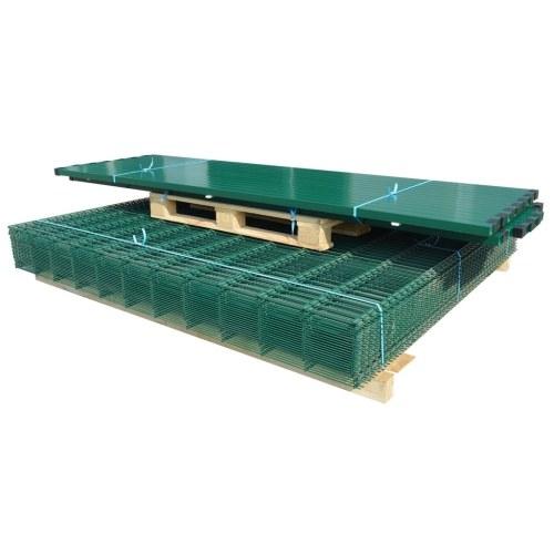 2d garden fence panels & posts 2008x1230 mm 42 m green
