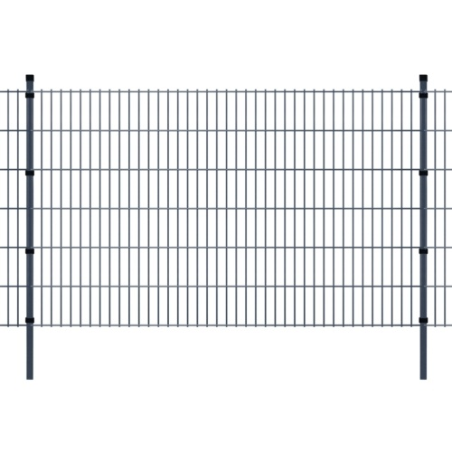 2d garden fence panels & posts 2008x1230 mm 22 m grey