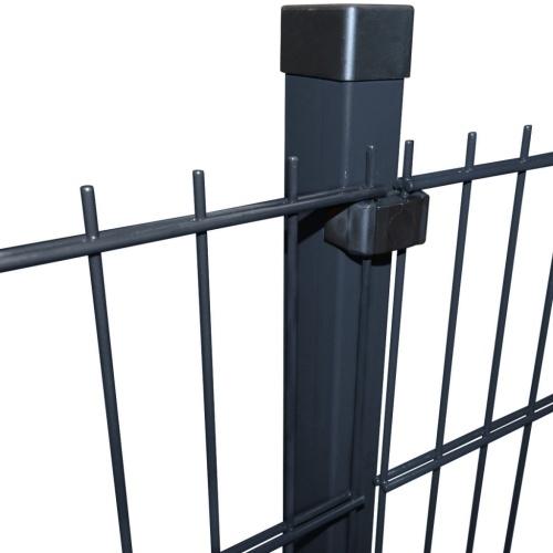 2d garden fence panels & posts 2008x1230 mm 34 m grey