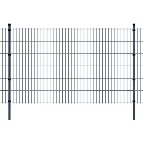 2d garden fence panels & posts 2008x1230 mm 42 m grey