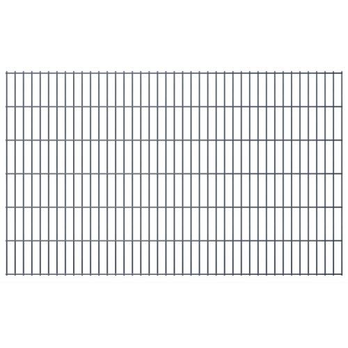 2d garden fence panels & posts 2008x1230 mm 46 m grey
