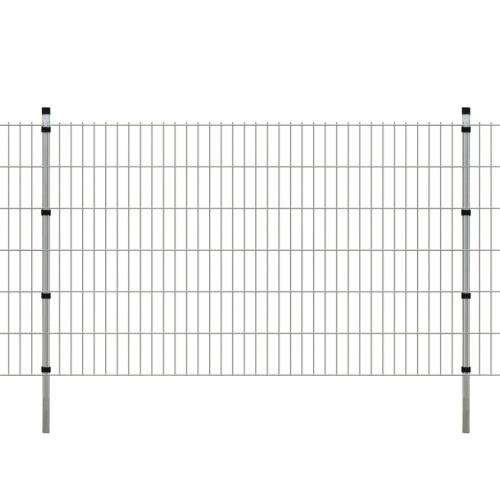 2d garden fence panels & posts 2008x1230 mm 10 m silver