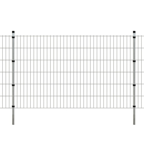 2d garden fence panels & posts 2008x1230 mm 28 m silver