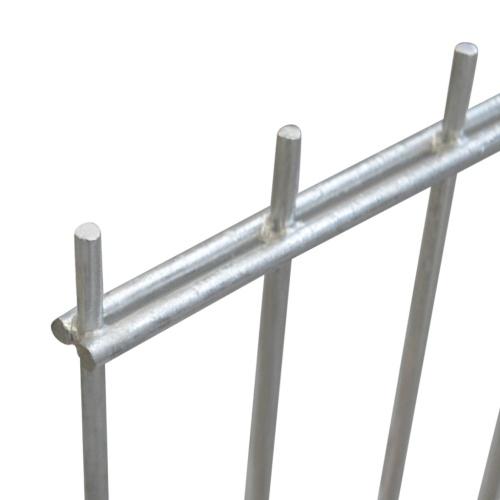 2d garden fence panels & posts 2008x1230 mm 44 m silver