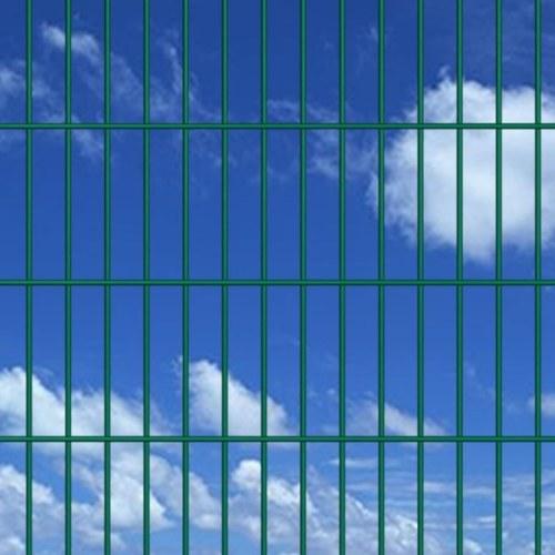 2d garden fence panels & posts 2008x1430 mm 14 m green