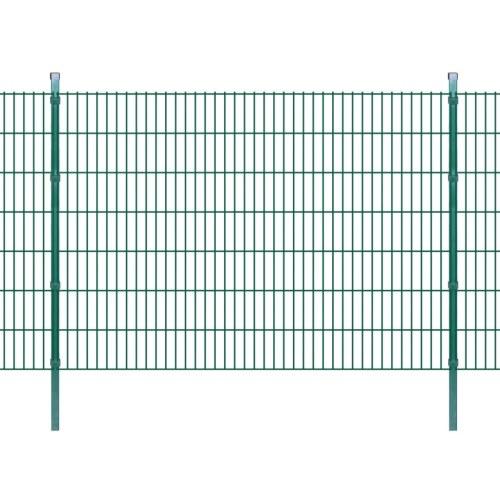 2d garden fence panels & posts 2008x1430 mm 24 m green