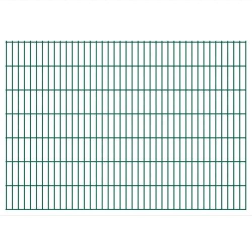 2d garden fence panels & posts 2008x1430 mm 34 m green