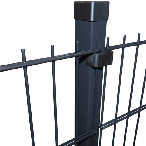 2d garden fence panel & posts 2008x1630 mm 2 m grey