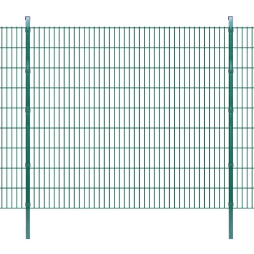 2d garden fence panels & posts 2008x1830 mm 46 m green