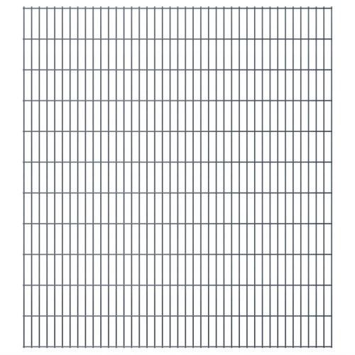 2d garden fence panels & posts 2008x2230 mm 24 m grey