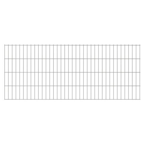 2D giardino pannelli di recinzione 2008x830 mm 4 m d'argento