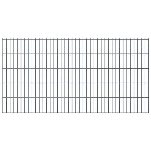 2d garden fence panels 2008x1030 mm 8 m grey