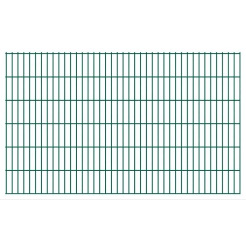 2d garden fence panels 2008x1230 mm 10 m green