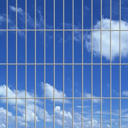 2D giardino pannelli di recinzione 2008x1230 mm 48 m d'argento