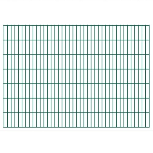 2d garden fence panels 2008x1430 mm 44 m green