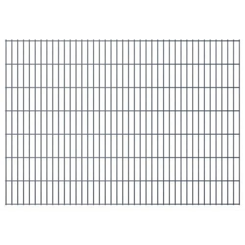 2d garden fence panels 2008x1430 mm 48 m grey
