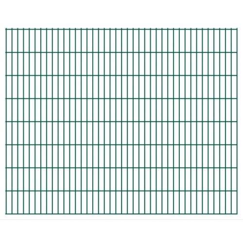 2d garden fence panels 2008x1630 mm 22 m green
