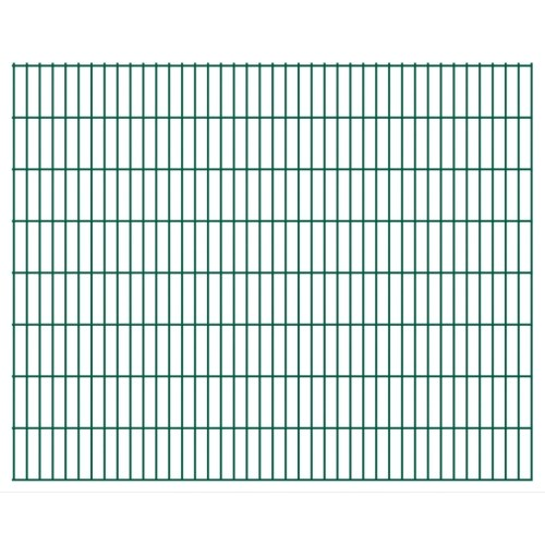 2d garden fence panels 2008x1630 mm 32 m green