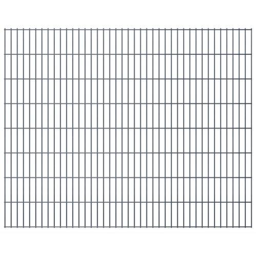 2d garden fence panels 2008x1630 mm 32 m grey