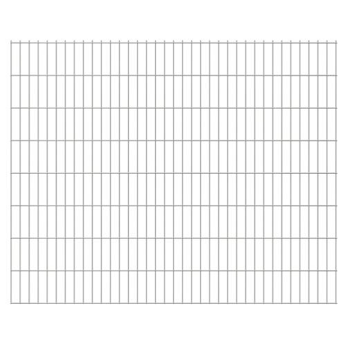 2D giardino pannelli di recinzione 2008x1630 mm 24 m d'argento