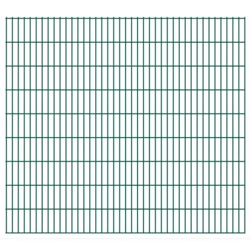 2d garden fence panels 2008x1830 mm 4 m green