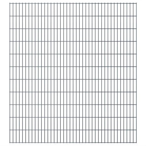 2d garden fence panels 2008x2230 mm 20 m grey