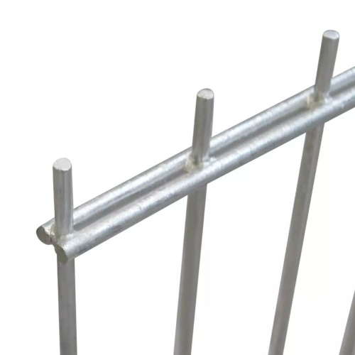 2d garden fence panels 2008x2230 mm 4 m silver