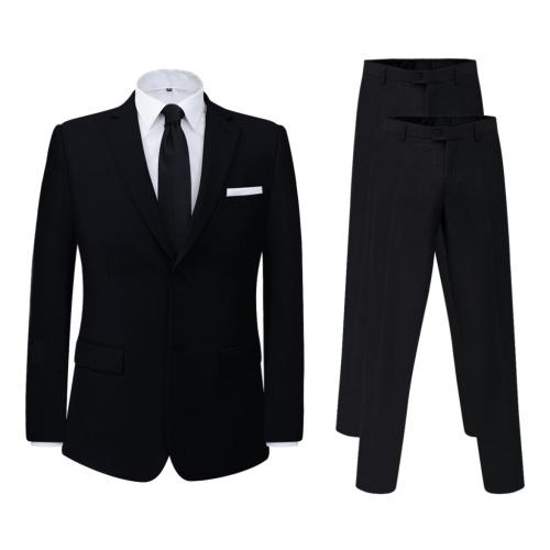 Due pezzi da maschile  con pantaloni extra nero taglia 56