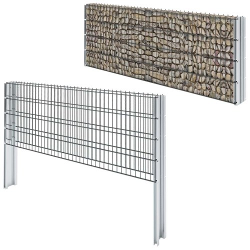 2d gabion fence set 2008x830 mm 4 m grey