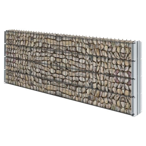 2d gabion fence set 2008x830 mm 20 m grey